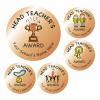 Metallic Bronze Head Teacher Award Stickers