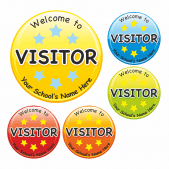 Visitor Circular Stickers