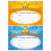 Star Award Certificate Pack (blue + gold)