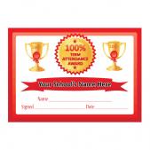 100% Term Attendance Certificates