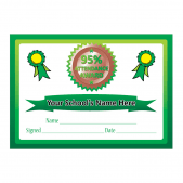 attendance reward certificates school stickers