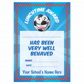 Lunchtime Behaviour Award Certificate