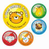 Animal Bravery Stickers