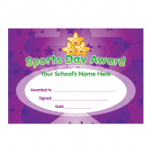 Sports Day Purple Certificates