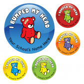 Bumped Head Teddy Stickers