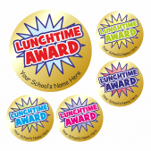 Lunchtime Gold Award Stickers