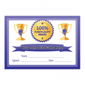100% Punctuality Certificates