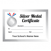 Sports Day Silver Medal Certificates