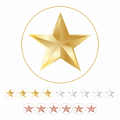10mm Metallic Star Stickers