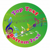 Music Customisable Stickers