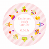 Baby shower Stickers - Pink
