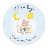 It's a Boy! Announcement Stickers - Stars Design