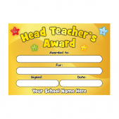 Head Teacher's Gold Stars Award Certificate Set
