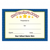 Head Teacher's Blue Stars Award Certificate Set