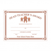 Head Teacher's Bronze Award Certificate Set