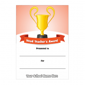 Head Teacher's Trophy Award Certificate Set