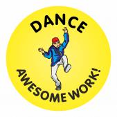 140 Dance Awesome Work Reward Praise Stickers Teacher Parents Children
