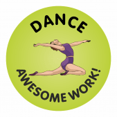 140 Dance Awesome Work Reward Praise Stickers Teacher Parents Children