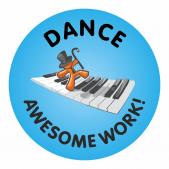 Awesome Work Reward Stickers - Dance