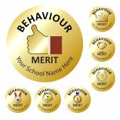 Metallic Gold Behaviour Reward Stickers
