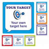 Create Your Own Speech Bubble Target Stickers