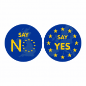 EU Vote Stickers - Say No Say Yes