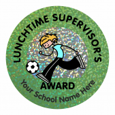Lunchtime Supervisors Award Sparkly Stickers