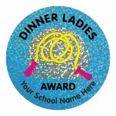Dinner Ladies Award Sparkly Stickers