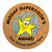 Midday Supervisors Award Sparkly Stickers