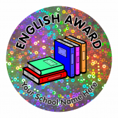 English Award Sparkly Stickers