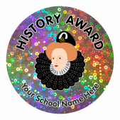 History Award Sparkly Stickers