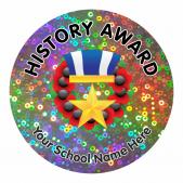 History Award Sparkly Stickers