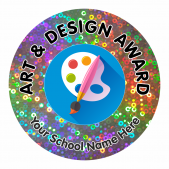 Art Award Sparkly Stickers