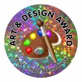 Art Award Sparkly Stickers