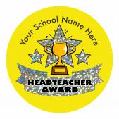 Head Teacher Trophy Award Sparkly Stickers
