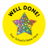 Well Done Sparkly Star Stickers