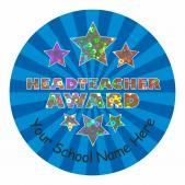 Head Teacher Star Sparkly Stickers