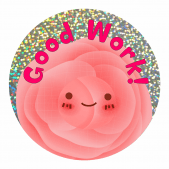 Smiley Flower Sparkly Stickers