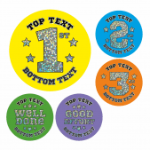 Customisable Sparkly Sports Day Stickers