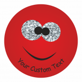 Customisable Sparkly Monster Stickers