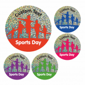 Sports Day Sparkly Race Stickers