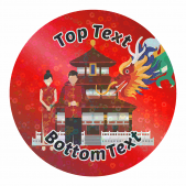 Sparkly China Stickers