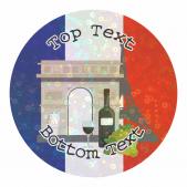Sparkly France Stickers