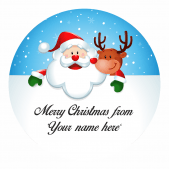 Santa and Rudolph Personalised Christmas Labels