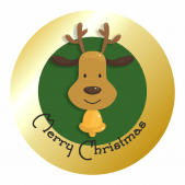 Merry Christmas Gold Stickers