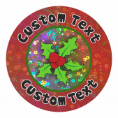 Customisable Christmas Sparkly Stickers