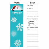 Dear Santa Bookmark Design 1