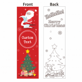 Christmas Colour Me Bookmark Design 2
