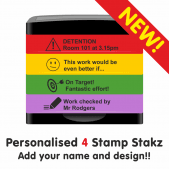 Personalised Stamp Stakz - 4 Bricks