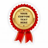 Customisable Red Gold Seal Rosette